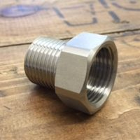 Stainless Steel 5/8 to 1/2 BSP Converter""