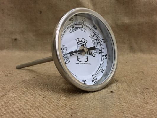 Bi-Metal 3Dial Weldless Temperature Gauge 132mm Stem""