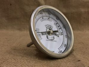 Bi-Metal 3Dial Weldless Temperature Gauge 40mm Stem""