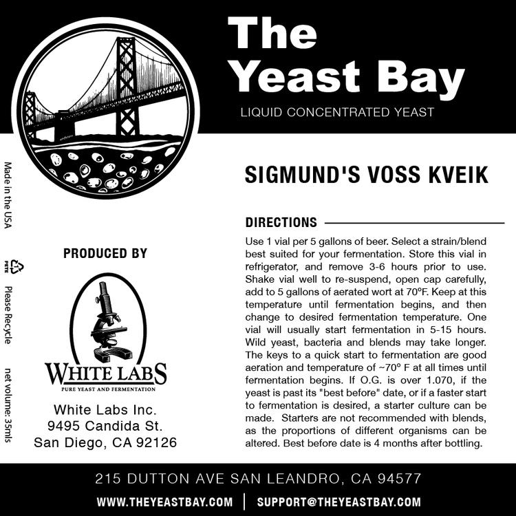 WLP4045 Sigmund Voss Kveik Yeast 24/11/2019