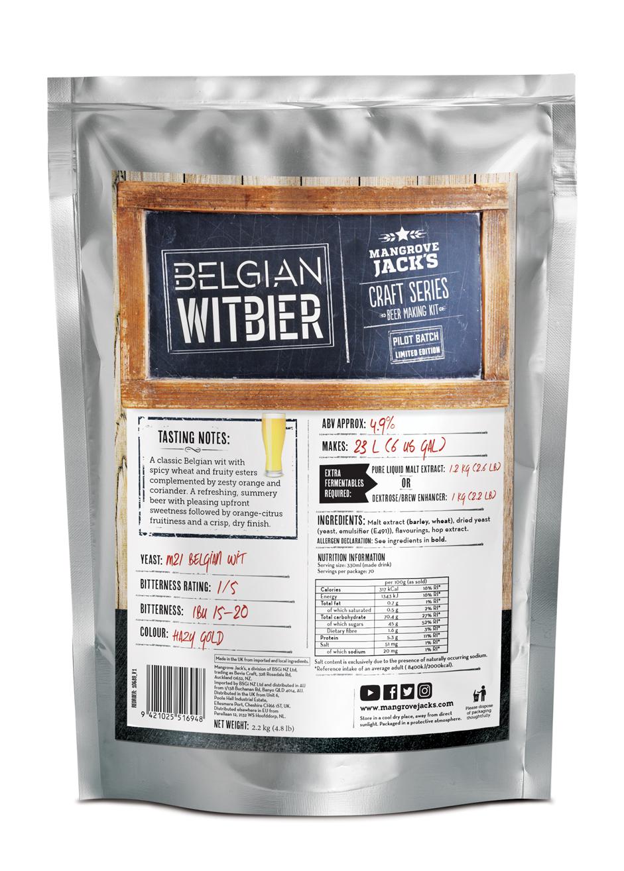Mangrove Jacks Craft Series Beer Kit – Limited Edition Witbier